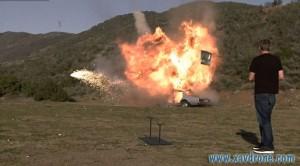 explosion de drone