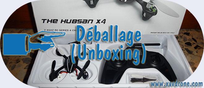 deballage hubsan x4