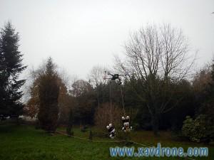 les lapins crétins en drone