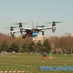 drone volant en immersion