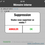 suppression fichiers