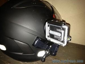 gopro 3 sur casque de moto