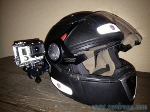 gopro hero 3 sur casque de moto
