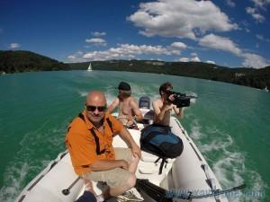 tournage sur un lac