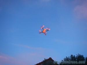 vol de nuit avec rolling spider