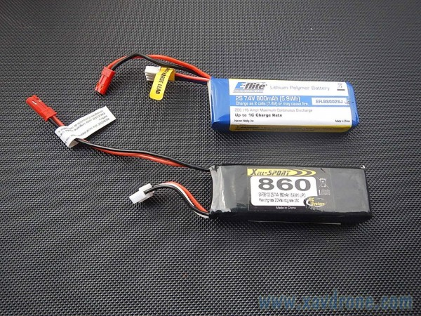 batteries xs 860 et e-flite