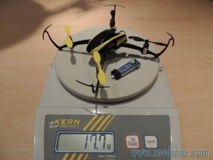 Poids blade nano QX avec batterie e-flite