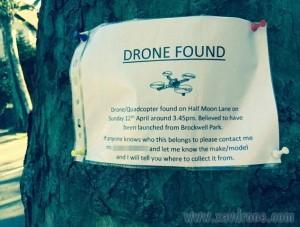 drone trouvé