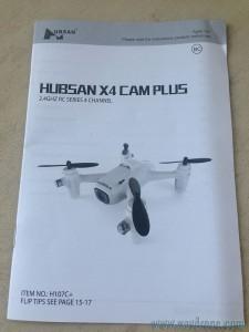 notice Hubsan X4 Cam Plus