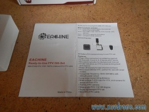 notice Eachine 200 FPV